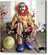 By Blood A King In Heart A Clown Acrylic Print