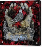 By His Hands Acrylic Print