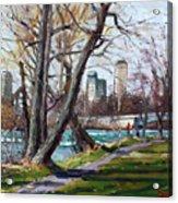 By Niagara River Acrylic Print