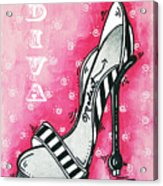 By Pink Design By Madart Acrylic Print