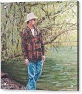 By The Lake - Self Portrait Acrylic Print