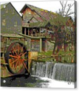 By The Old Mill Stream Acrylic Print by Larry Bishop