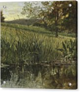 By The Riverbank, 1869 Acrylic Print