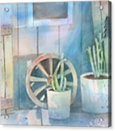 By The Side Of The Shed Acrylic Print by Arline Wagner