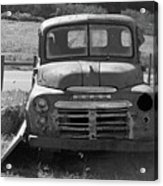 Bygone Dodge In Black And White Acrylic Print