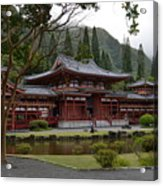 Byodo-in Temple Acrylic Print