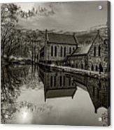 Byrd Park Pumphouse 3711t_s2 Acrylic Print