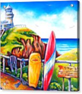 Byron Bay Lighthouse Acrylic Print by Deb Broughton