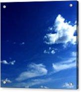 Byzantine Blue Skies With Clouds Acrylic Print