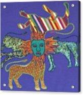 Byzantine Lion Acrylic Print