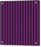 Byzantium Purple Striped Pattern Design Acrylic Print