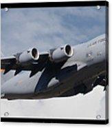 C-17 Globemaster IIi Poster Acrylic Print