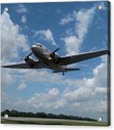 C-47 Dakota Low Pass Over Jekyll Island Airport. 2015 Acrylic Print