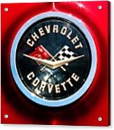 C2 Corvette Logo Acrylic Print