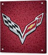 C7 Badge Red Acrylic Print