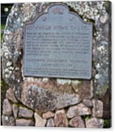 Ca-779 Rockville Stone Chapel Acrylic Print