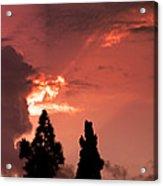 Cloud Anamoly Running Man Acrylic Print