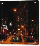 Cab New York Acrylic Print
