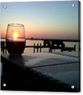 Cabernet Sunset Acrylic Print