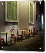 Cabildo Alley Tables Acrylic Print
