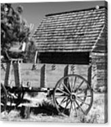 Cabin And Wagon Acrylic Print