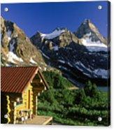 Cabin At Mt Assiniboine Lodge, Mt Acrylic Print