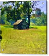 Cabin At Valley Forge Acrylic Print
