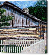 Cabin In Knife Acrylic Print