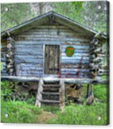 Cabin In Lapland Forest Acrylic Print