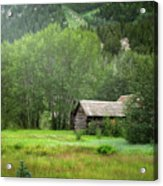 Cabin In The Aspens  Acrylic Print