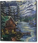 Cabin In The Mountains Acrylic Print