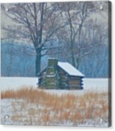 Cabin In The Snow - Valley Forge Acrylic Print