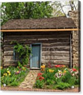 Cabin In The Tulip Patch Acrylic Print
