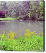 Cabin Reflection Acrylic Print