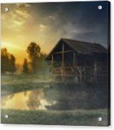 Cabin Sunrise Acrylic Print