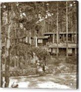 Cabins At Carmel Highlands Inn Circa 1930 Acrylic Print