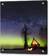Cabins Glow Acrylic Print