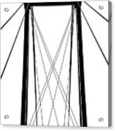 Cable Bridge Abstract Acrylic Print