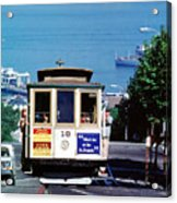 Cable Car 18 Heading Up The Hyde Street Line Acrylic Print