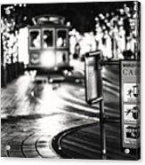Cable Car Stop Blackout Acrylic Print