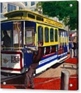Cable Car Turntable At Powell And Market Sts. Acrylic Print
