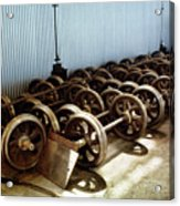 Cable Car Wheels, Repair Shop Acrylic Print