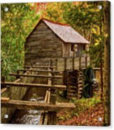 Cable Mill Cades Cove Smoky Mountains Tennessee In Autumn Acrylic Print