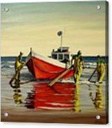 Cabo Polonio fishing Acrylic Print