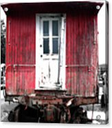 Caboose In Barn Red  Acrylic Print