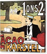 Cacao Karstel - Vintage Cacao Advertising Poster Acrylic Print