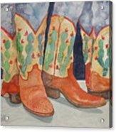 Cactus Boots Acrylic Print