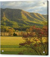 Cades Cove Autumn Sunset In Great Smoky Mountains Acrylic Print