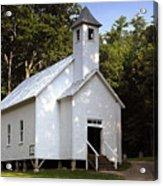 Cades Cove Baptist Church Acrylic Print