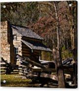 Cades Cove Cabin Acrylic Print